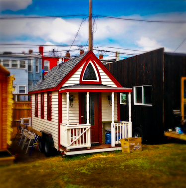 Tiny home of Elaine Walker at former Boneyard Studios in Washington, DC