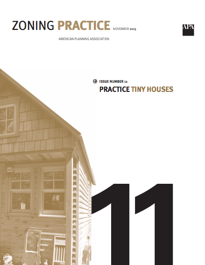 November 2015 issue of Zoning Practice