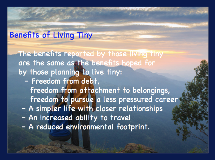 benefits of living tiny