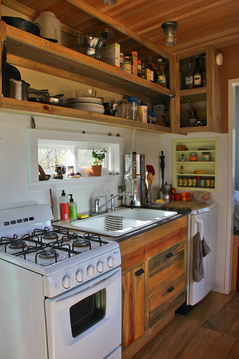 Kitchen Message Center Steely Cottage American Tiny House Association