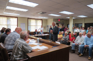 It was standing room only at the Land Use Board meeting as attorney for OCEAN Inc. Stephen Smith described the micro housing development of 24 units, ten of which would be set aside for veterans.