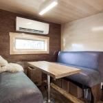 #TinyLab interior, dining booth
