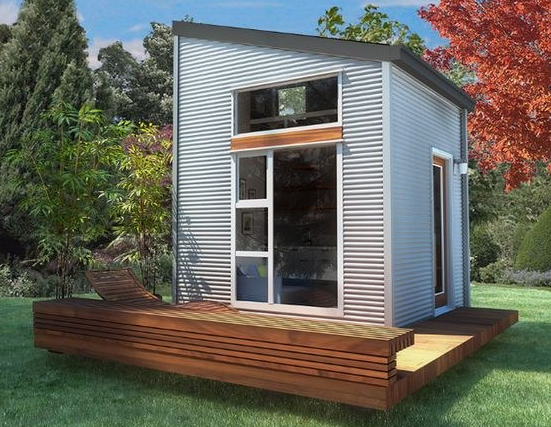 example of a tiny house on a foundation